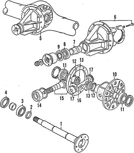 Cojinete de Diferencial Transmisión Automática Original
