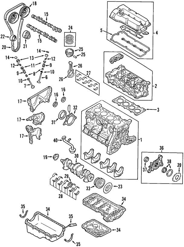 juego completo empacaduras del motor original para mazda