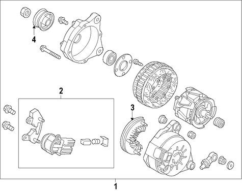 Imagen de Regulador de Voltaje Original para Mazda 6 2017 Marca MAZDA Número de Parte P58G18W70