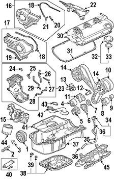 Imagen de Tapa de Valvula del Motor Original para Mitsubishi Eclipse 2008 2009 Mitsubishi Galant 2008 2009 Marca Mitsubishi Número de Parte 1035A780