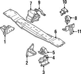 Imagen de Montura del motor Original para Mitsubishi Montero Sport 1997 1998 1999 Marca Mitsubishi Número de Parte MR210867