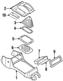 Imagen de Consola Central Original para Mitsubishi Montero Sport 1997 1998 1999 Marca Mitsubishi Número de Parte MR763517
