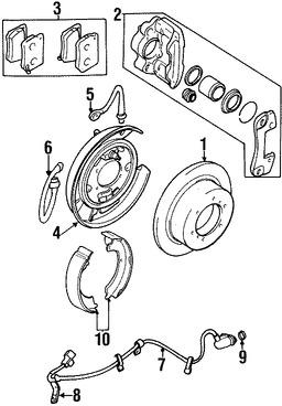 Imagen de Sensor de Velocidad Freno ABS Original para Mitsubishi Montero Sport 1997 Marca Mitsubishi Número de Parte MR235409