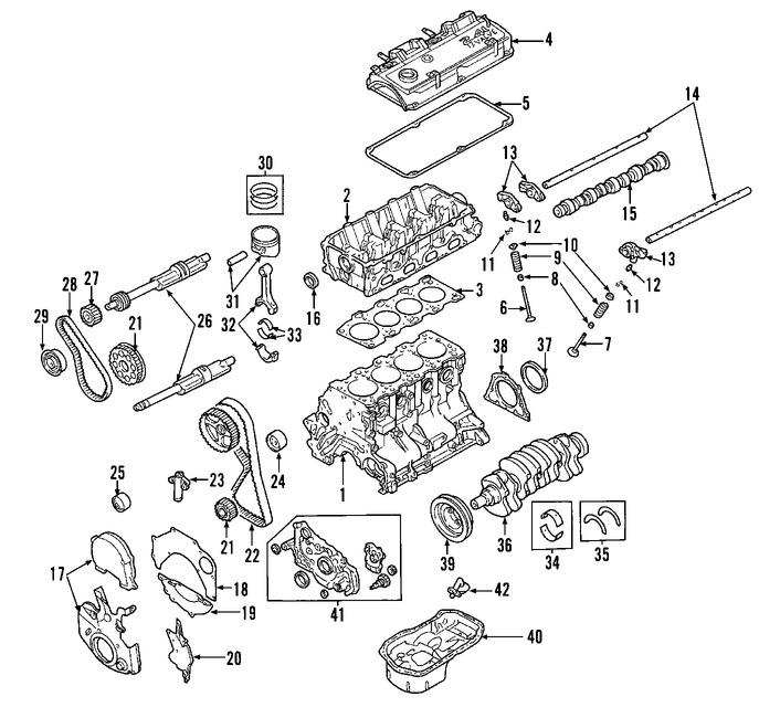 Sello del cigueñal del motor Original para Eagle