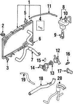 Sensor de temperatura de Refrigerante del motor Original