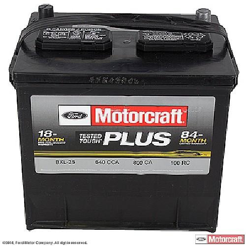 Imagen de Batería Tested Tough Plus para Hyundai Elantra 1996 Hyundai Excel 1993 Nissan Pathfinder 1998 Toyota Tercel 1992 Marca MOTORCRAFT Número de Parte #BXL-25