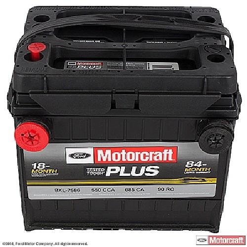 Imagen de Batería para Hyundai Dodge Jeep Buick Chevrolet Pontiac Saturn Nissan Marca MOTORCRAFT Tested Tough Plus Número de Parte #BXL-7586