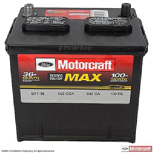 Imagen de Batería para Mazda Nissan Toyota Saab Honda Ford Subaru Mercury Lexus Infiniti... Marca MOTORCRAFT Tested Tough Max Número de Parte BXT-35