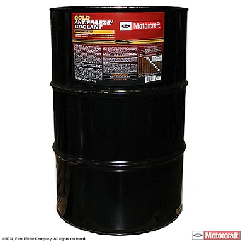 Imagen de Refrigerante / Anticongelante Gold Concentrado barril 55 Galones para Ford Explorer 2007 Ford Focus 2007 Ford Fusion 2008 Marca MOTORCRAFT Número de Parte #VC-7-D