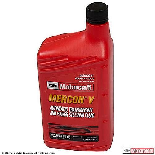 Imagen de Fluido de Transmision Mercon V - 1/4 Galon para Ford Mercury Lincoln Marca MOTORCRAFT Número de Parte #XT-5-QMC