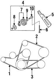 Correas, Tensores y Poleas para Nissan Pathfinder 1997