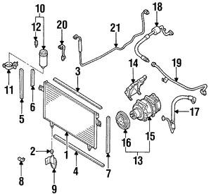 Imagen de Embrague del Compresor de Aire Acondicionado Original para Infiniti QX4 2000 Nissan Pathfinder 2000 Marca NISSAN Número de Parte 926601W910