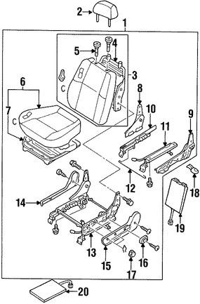 guia de reposacabezas para nissan pathfinder 1997 1997 Nissan Pathfinder Green foto de guia de reposacabezas original para nissan pathfinder 1996 1997 1998 1999 marca nissan n mero