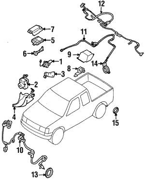 Módulo de control de ABS Original para Nissan Frontier