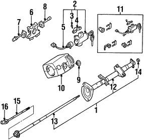 Imagen de Columna de Dirección Original para Nissan Frontier 2000 Nissan Xterra 2000 2001 Marca NISSAN Número de Parte 488059Z350
