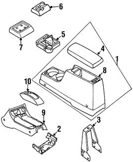 Imagen de Consola Central Original para Nissan Frontier 1999 2000 Nissan Xterra 2000 2001 Marca NISSAN Número de Parte 969107Z001