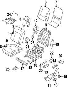 Imagen de Interruptor Lumbar de asiento Original para Nissan Murano 2009 Nissan Rogue 2008 2009 2010 Marca NISSAN Número de Parte 87317JM00A