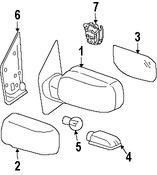 Imagen de Espejo retrovisor exterior Original para Nissan Armada 2007 Nissan Titan 2007 2008 Infiniti QX56 2007 Marca NISSAN Número de Parte 96301ZC400