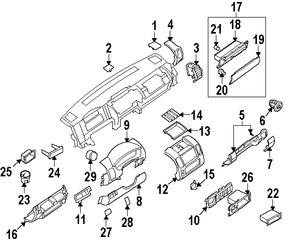 Cobertura Panel de Instrumentos Original para Nissan