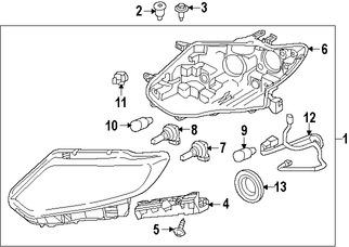 Imagen de Conjunto de Faros Delanteros Original para Nissan Rogue 2014 2015 2016 Marca NISSAN Número de Parte 260604BA2A