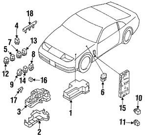 Relé de Corriente Accesorios Original para Infiniti Nissan