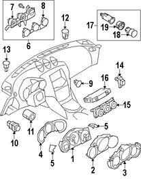 Imagen de Modulo de Control calefacción, ventilación y aire acondicionado Original para Nissan 370Z 2015 2016 2017 Marca NISSAN Número de Parte 277606GA1A