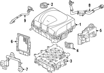 Imagen de Computadora del Motor Original para Nissan Leaf 2015 Marca NISSAN Número de Parte 237409RB1B