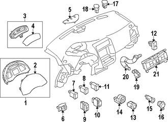 Imagen de Panel de Instrumentos Original para Nissan Leaf 2015 2014 Marca NISSAN Número de Parte 248109RB0A