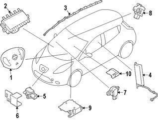 Imagen de Módulo de control del Air Bag Original para Nissan Leaf 2013 2014 2015 2016 Marca NISSAN Número de Parte 988203NF9A