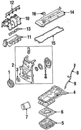 Polea del cigueñal Original para Nissan Altima Nissan