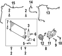 Imagen de Embrague del Compresor de Aire Acondicionado Original para Nissan Versa 2007 2008 Marca NISSAN Número de Parte 92660CJ61B