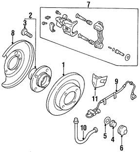 Tornillo de la Rueda Original para Nissan Infiniti Marca