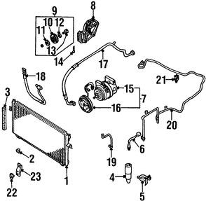 Imagen de Embrague del Compresor de Aire Acondicionado Original para Nissan Altima 1998 1999 2000 2001 Marca NISSAN Número de Parte 926650Z001