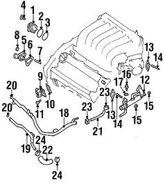 empacadura de la bomba de agua del motor para infiniti qx4 2002 2000 Infiniti QX4