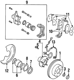 Pastillas de Freno para Nissan Pulsar NX 1989