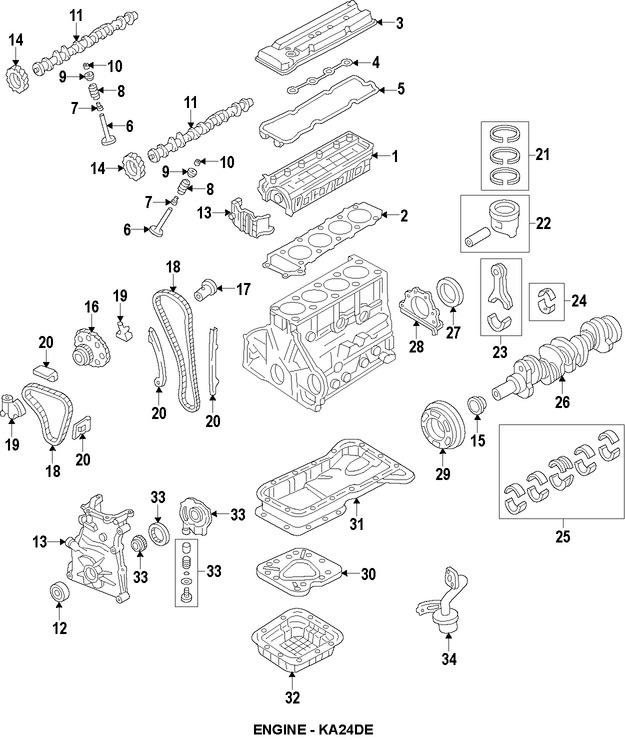 Culata del motor Original para Nissan Altima 1998 1999