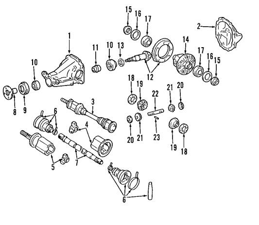 Sello de Piñón Diferencial Original para Nissan Murano