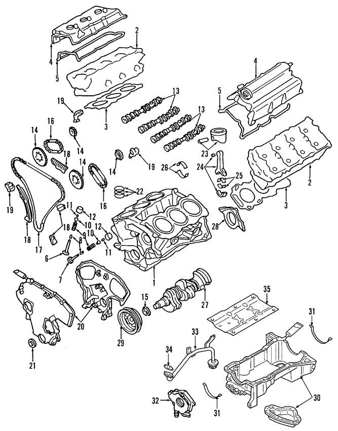 culata del motor original para infiniti qx4 2002 nissan