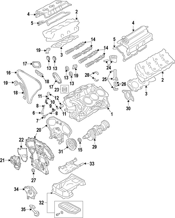 Imagen de Empacadura de la culata Original para Nissan 370Z 2017 Marca NISSAN Número de Parte 11044EY06B