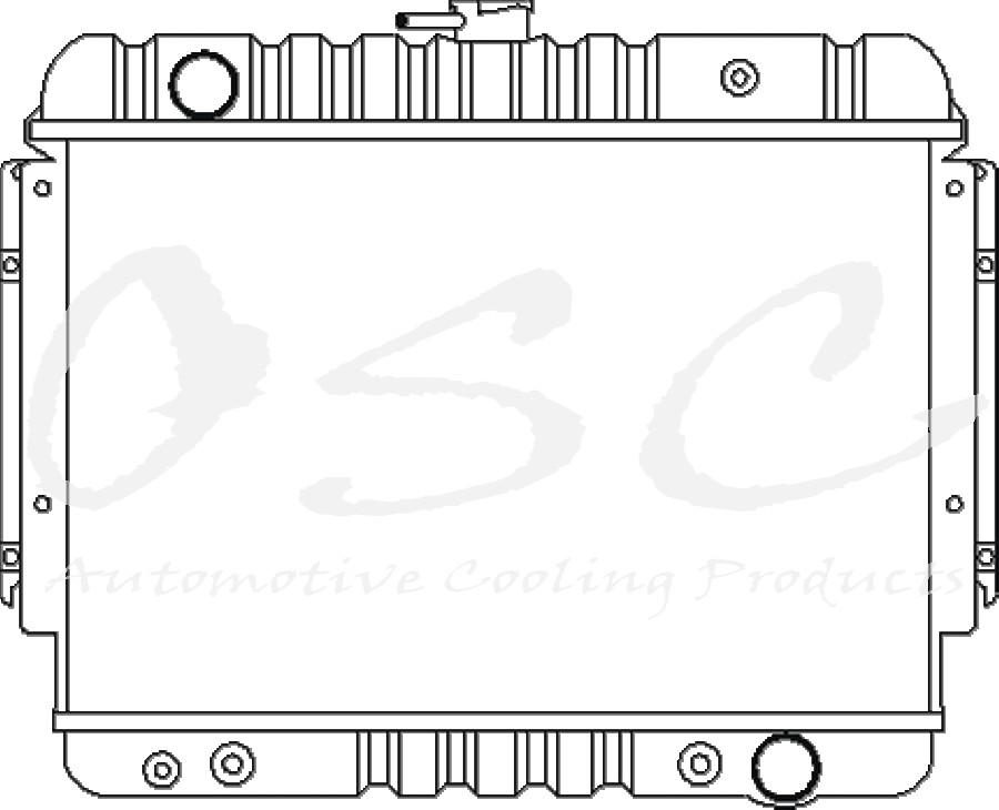Imagen de Radiador para Dodge B100 1977 Marca OSC Número de Parte 1586