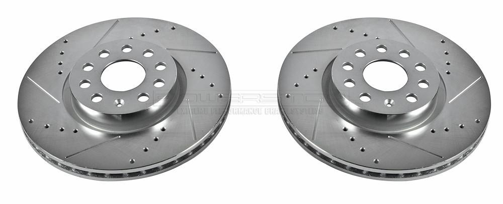 Imagen de Conjunto de Rotor del Disco de Freno Extreme Performance Ranurado y Perforado para Audi Volkswagen Marca POWER STOP Número de Parte EBR898XPR