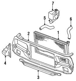 tanque de recuperacion de refrigerante original para subaru dl Subaru XT6 tanque de recuperacion de refrigerante original para subaru dl subaru gl subaru gl 10 subaru rx subaru loyale marca subaru n mero de parte 45151ga021