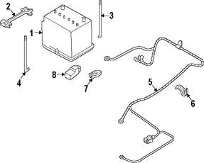 Imagen de Arnés de Cable de Batería Original para Subaru Baja 2005 2006 Marca SUBARU Número de Parte 81601AE50A