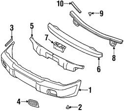 Enganche de cubierta de parachoques para Subaru Impreza