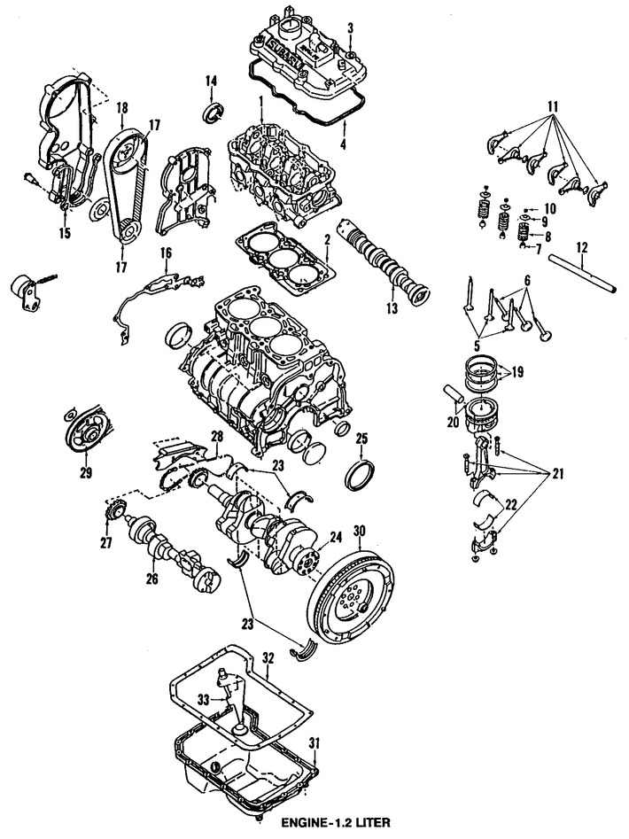 Imagen de Motor Completo Original para Subaru Justy 1992 Marca SUBARU Número de Parte 10100KE830