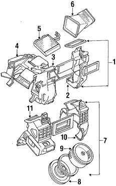 Calefaccion, core y valvulas para Suzuki Sidekick 1997