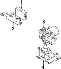Imagen de Conjunto de Bomba y Motor Frenos ABS Original para Suzuki Sidekick 1996 1997 1998 Marca SUZUKI Número de Parte 5610077E10
