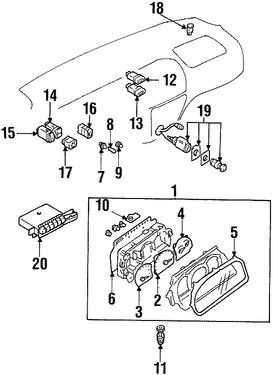 Imagen de Sensor de Velocidad Original para Suzuki Vitara 1999 2000 2001 Marca SUZUKI Número de Parte 3491065D41