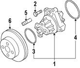 Imagen de Bomba de agua del motor Original para Suzuki Grand Vitara 2006 2007 2008 Marca SUZUKI Número de Parte 1740066811