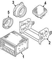 Imagen de Unidad de Control de Radio Original para Suzuki Aerio 2007 Marca SUZUKI Número de Parte 3910159JF0